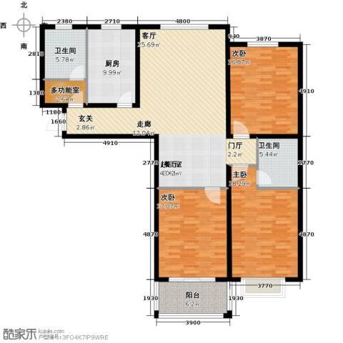 水运雅居3室0厅2卫1厨176.00㎡户型图