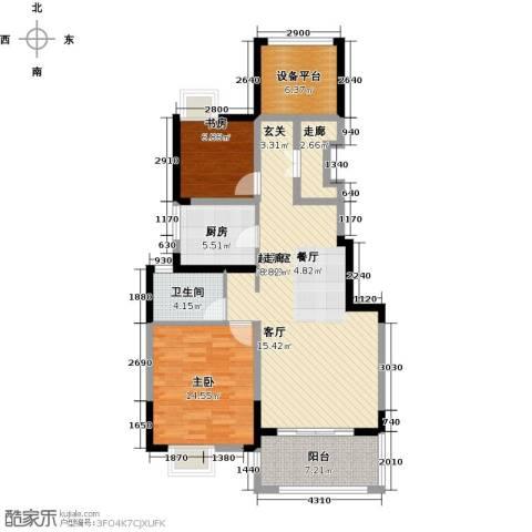 可逸兰亭2室0厅1卫1厨92.00㎡户型图