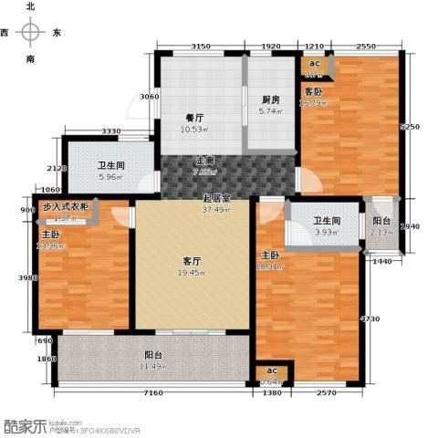 花好月圆3室0厅2卫1厨134.00㎡户型图