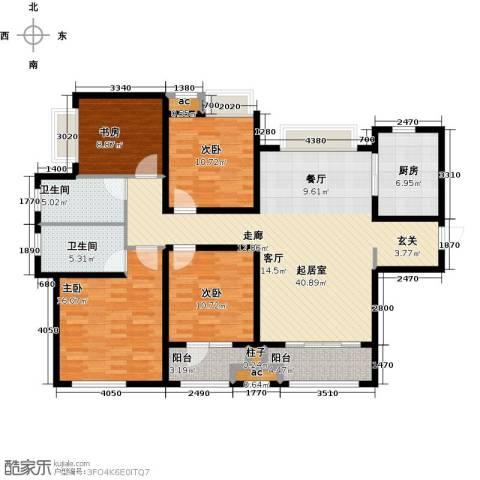 九龙仓时代上城二期繁华里4室0厅2卫1厨132.00㎡户型图