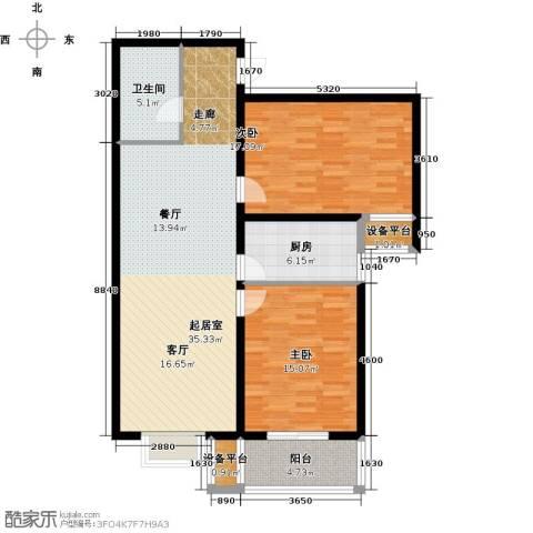 华舜学府2室0厅1卫1厨97.00㎡户型图