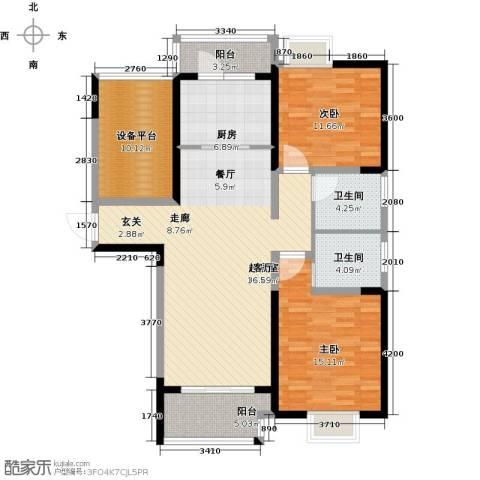 可逸兰亭2室0厅2卫1厨109.00㎡户型图