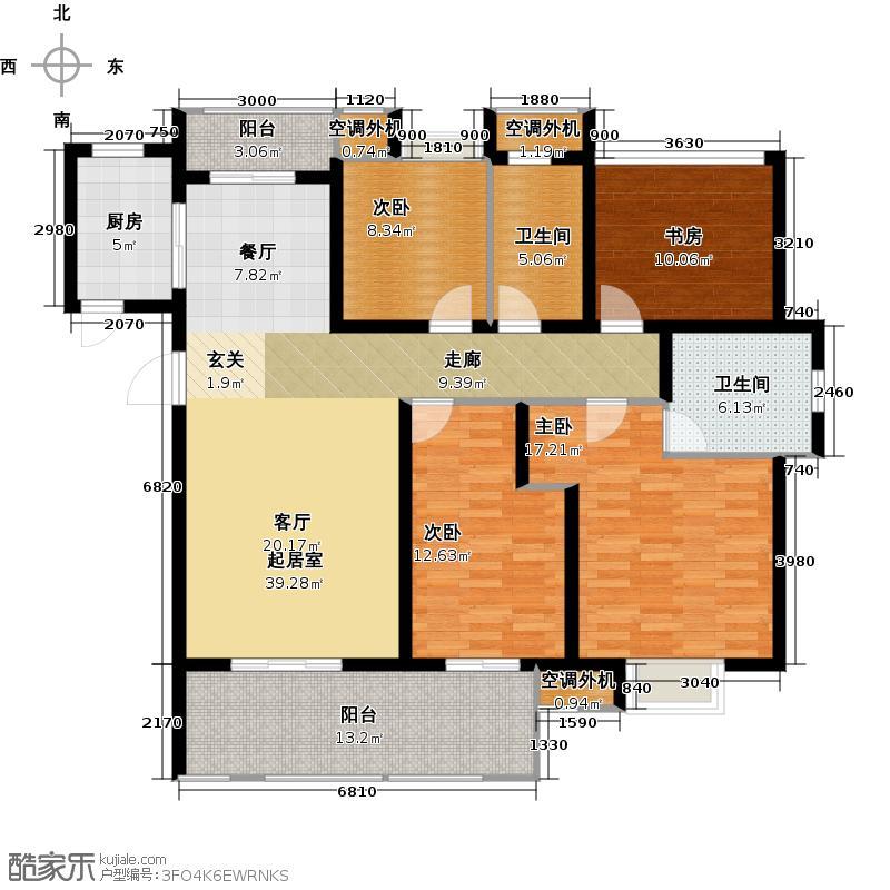 新城石湖公馆140.00㎡奢享户型4室2厅2卫
