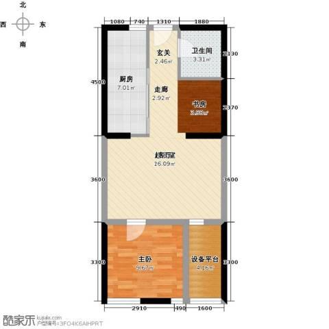 智造创想城1室0厅1卫1厨74.00㎡户型图