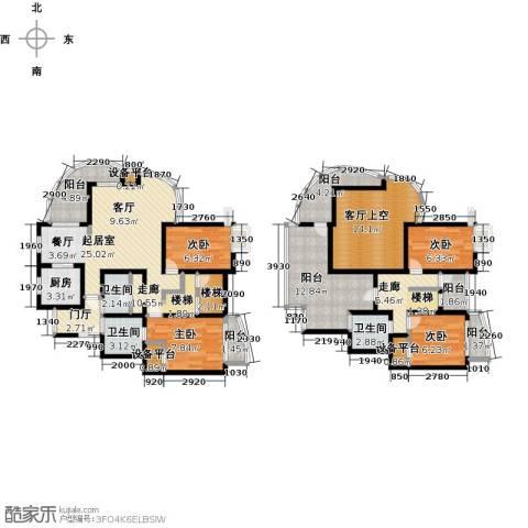 越湖名邸4室0厅3卫1厨139.00㎡户型图