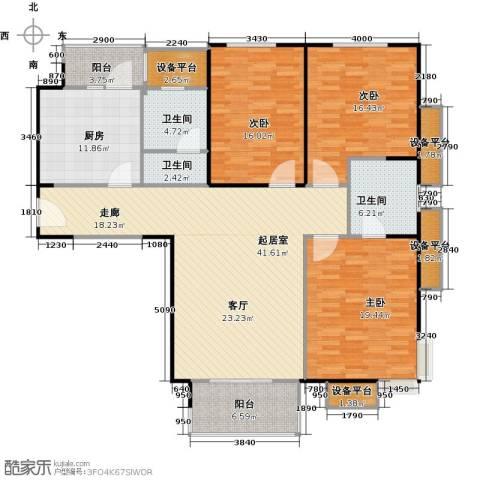 府上和平3室0厅3卫1厨142.00㎡户型图