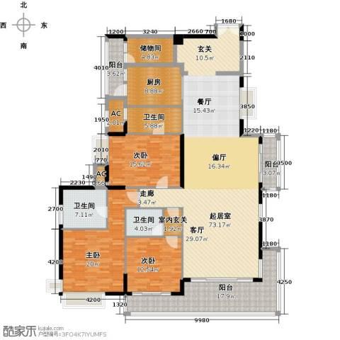 中海银海湾3室0厅3卫1厨254.00㎡户型图