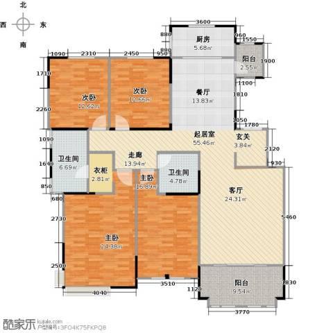 融侨观邸4室0厅2卫1厨202.00㎡户型图