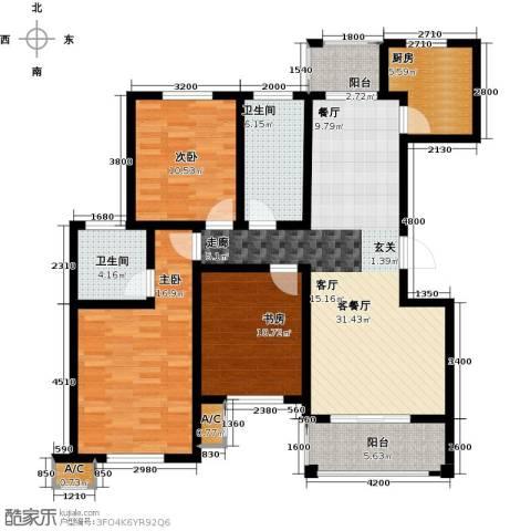 金石滩度假公园3室1厅2卫1厨125.00㎡户型图