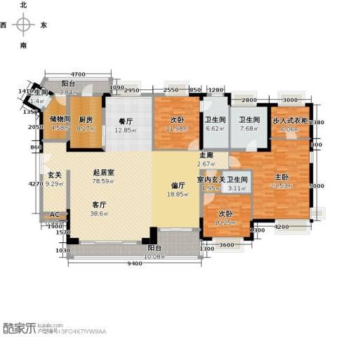 中海银海湾3室0厅4卫1厨252.00㎡户型图