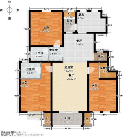 君悦花苑3室0厅2卫1厨137.00㎡户型图