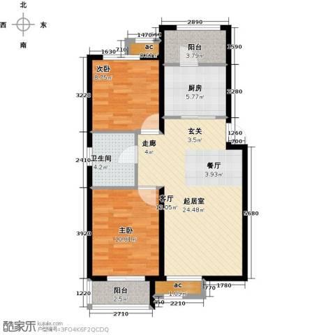 和泓四季恋城2室0厅1卫1厨89.00㎡户型图