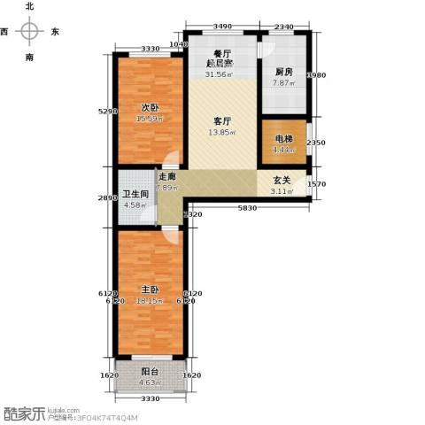 尧和宁苑三期2室0厅1卫1厨99.00㎡户型图