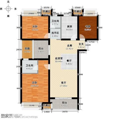 世茂国际广场3室0厅2卫1厨165.00㎡户型图