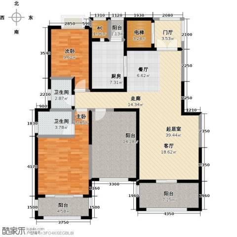 金科王府2室0厅2卫1厨132.00㎡户型图