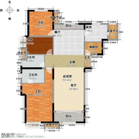 金融街和平中心3室0厅2卫1厨173.00㎡户型图