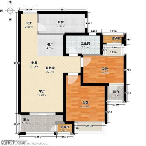 世茂国际广场2室0厅1卫1厨111.00㎡户型图