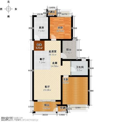 世茂国际广场2室0厅1卫1厨131.00㎡户型图