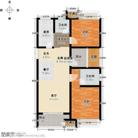 世茂国际广场2室0厅2卫1厨144.00㎡户型图