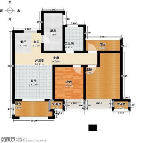 世茂国际广场2室0厅1卫1厨109.00㎡户型图