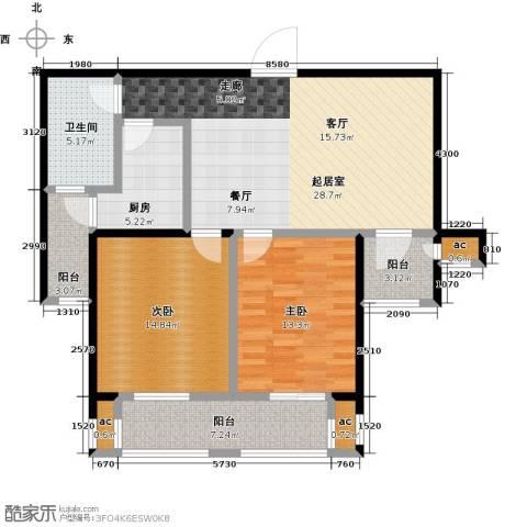 花好月圆2室0厅1卫1厨94.00㎡户型图