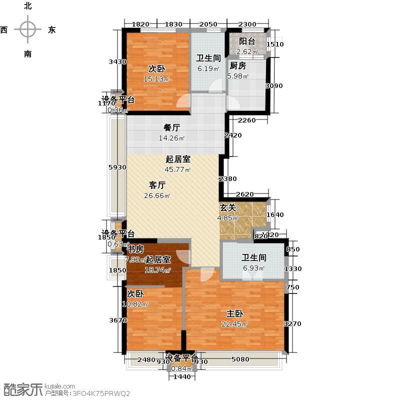 金融街和平中心183.00㎡C户型3室2厅2卫