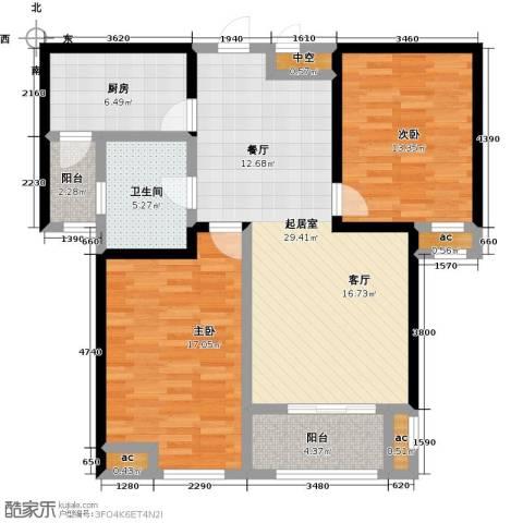 花好月圆2室0厅1卫1厨93.00㎡户型图