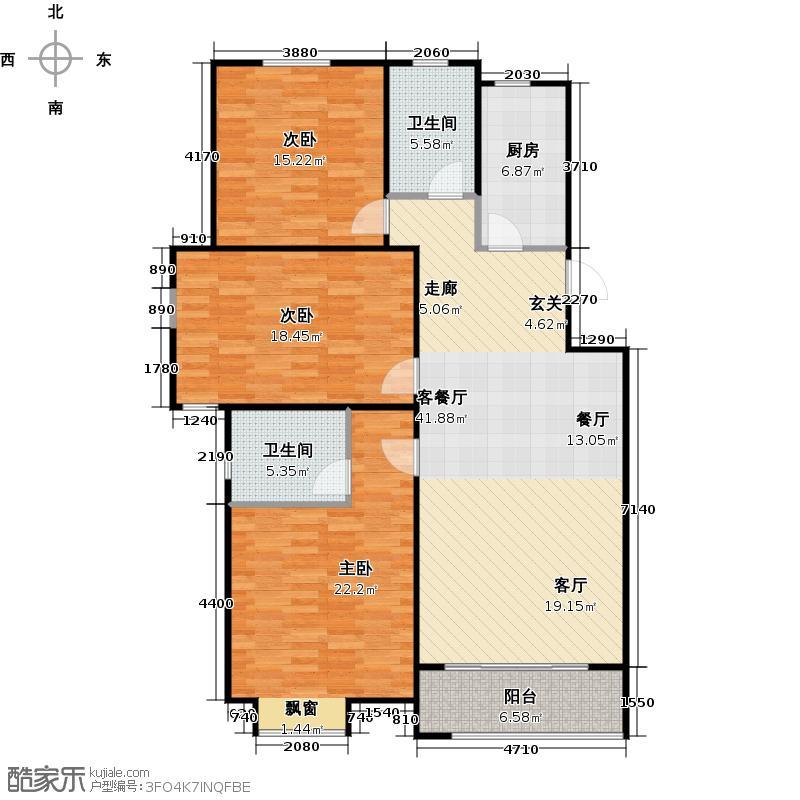 犁铧春秋户型3室1厅2卫1厨