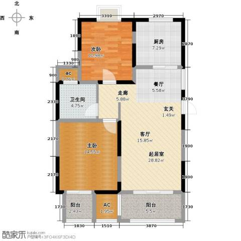 越湖家天下2室0厅1卫1厨88.20㎡户型图