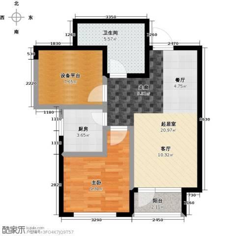 阳光100国际新城1室0厅1卫1厨66.00㎡户型图