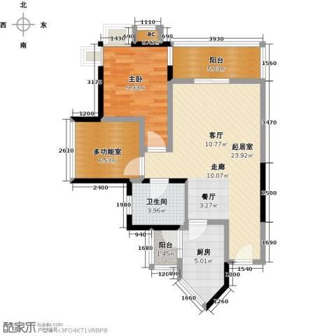 海悦湾1室0厅1卫1厨64.00㎡户型图