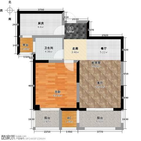 越湖家天下1室0厅1卫1厨71.00㎡户型图