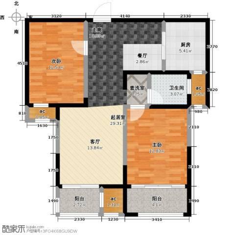 荣华世家2室0厅1卫1厨106.00㎡户型图