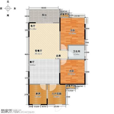 龙湾上城2室1厅1卫1厨112.00㎡户型图
