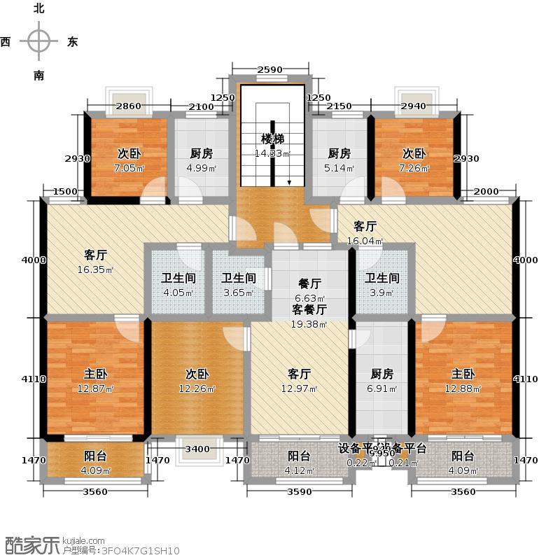 碧海豪庭68.53㎡60、66、71号楼示意图户型B1户型2室2厅1卫