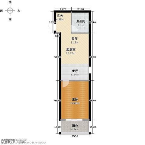 华舜学府1室0厅1卫0厨53.00㎡户型图