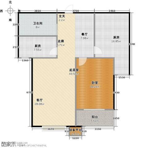 国海公寓1卫2厨134.00㎡户型图