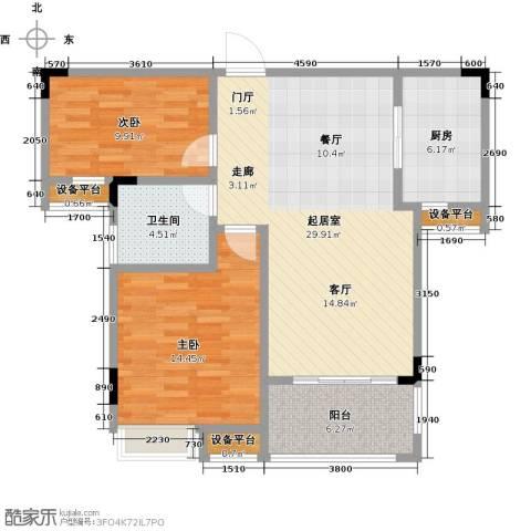 大润发广场2室0厅1卫1厨83.00㎡户型图