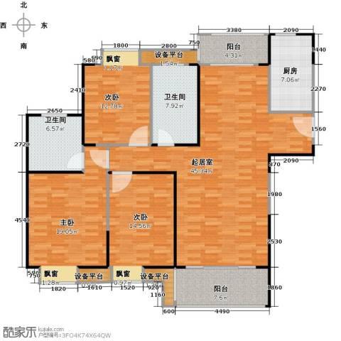 正元怡居3室0厅2卫1厨135.00㎡户型图