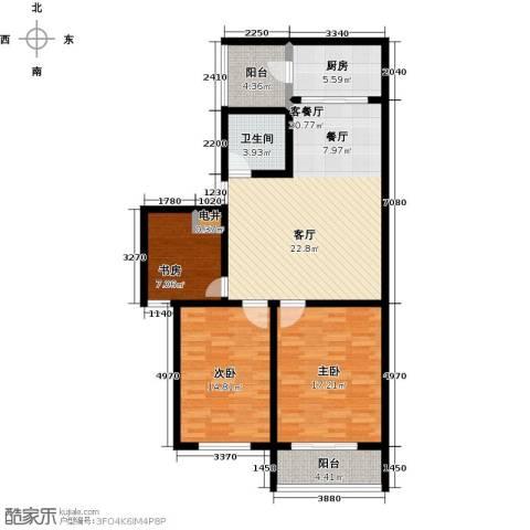 盛祥佳苑3室1厅1卫1厨103.00㎡户型图