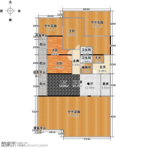 中和龙沐湾・海润源3室0厅2卫1厨251.00㎡户型图