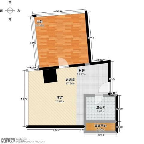 深圳湾1室0厅1卫0厨83.00㎡户型图