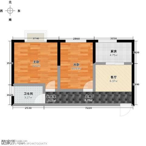 益华御才湾2室0厅1卫1厨64.00㎡户型图