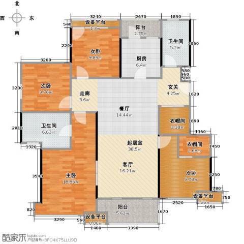 高科麓湾国际社区4室0厅2卫1厨166.00㎡户型图