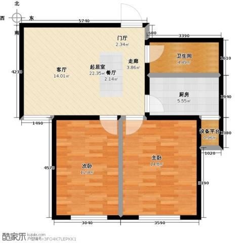 康城2室0厅1卫1厨68.00㎡户型图