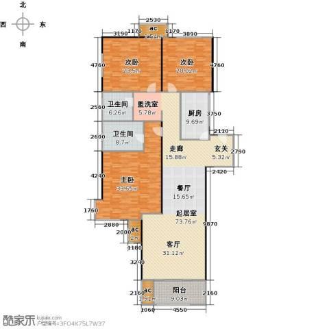 高科麓湾国际社区3室0厅2卫1厨253.00㎡户型图