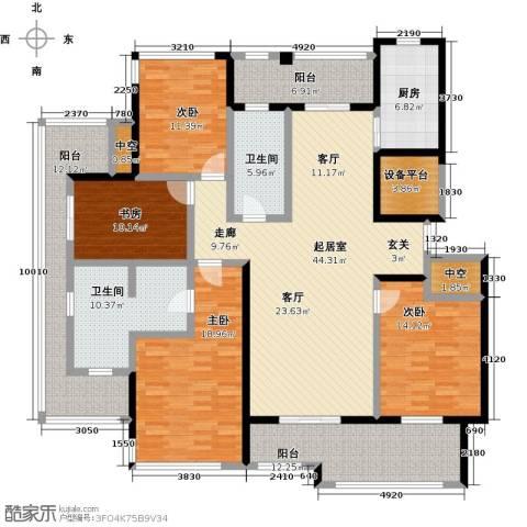 君悦・东湖公馆4室0厅2卫1厨190.00㎡户型图