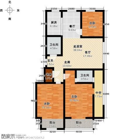 五洲太阳城4室0厅2卫1厨169.00㎡户型图