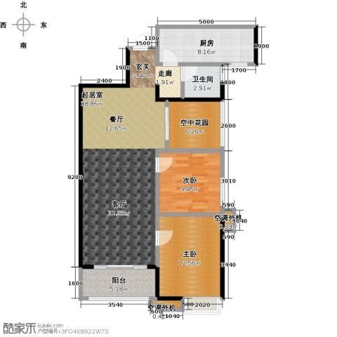 易景凯旋城2室0厅1卫1厨101.00㎡户型图