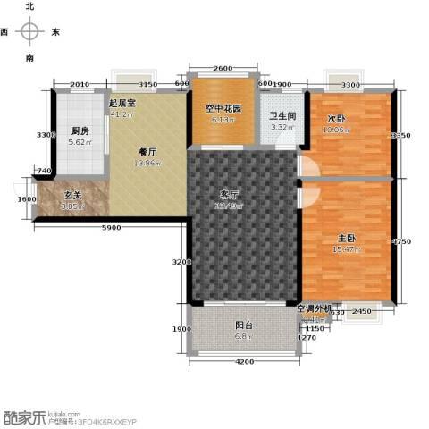 易景凯旋城2室0厅1卫1厨111.00㎡户型图